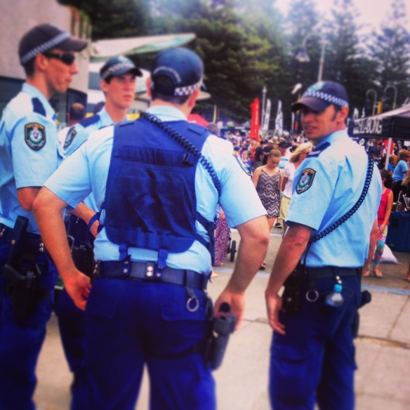 Boys in blue hang in the Nulla