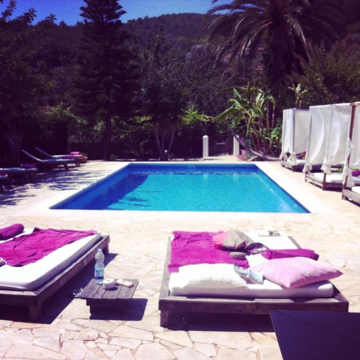 A hard day's work in Ibiza.